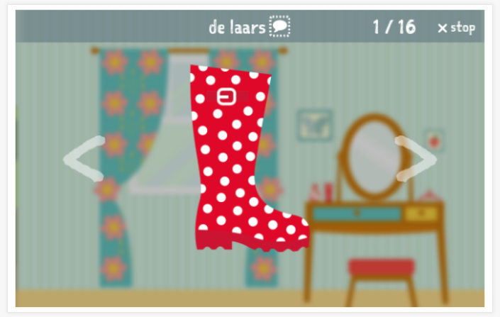 Clothing theme presentation of the Dutch app for children