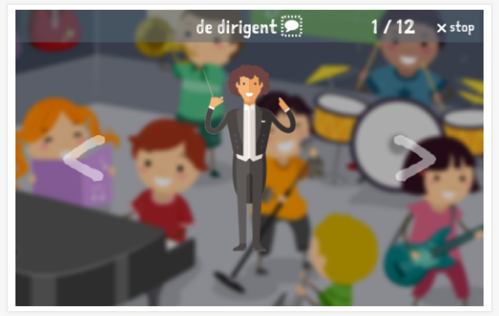Music theme presentation of the Dutch app for children