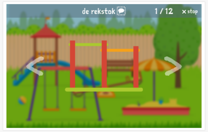 Playground theme presentation of the Dutch app for children
