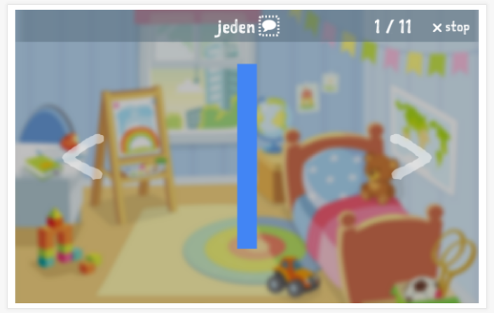 Numbers theme presentation of the Polish app for children