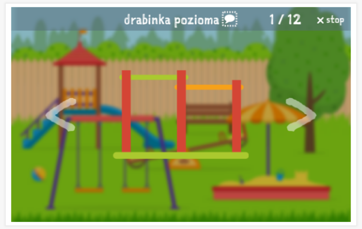 Playground theme presentation of the Polish app for children